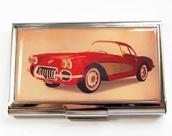 Classic Car Card Case, Business Card Case, Car Card Case, business card holder, classic car, sports car card case, gift for him (4418)