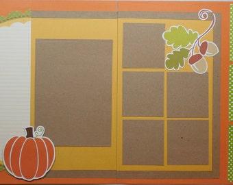 Pumpkins and Acorns Scrapbook Kit