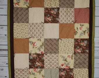 Floral traditional quilt