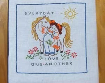 Every Day Love One Another Crewel Embroidery Pattern