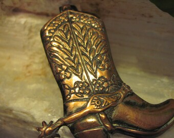 Detailed Copper Boot perfect for scarves