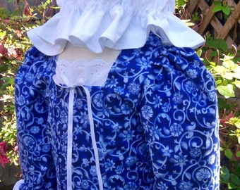 Colonial dress for Girls /Early American..and  Mob Cap sizes 2 to 12 ...(PLEASE read full details inside of ad)