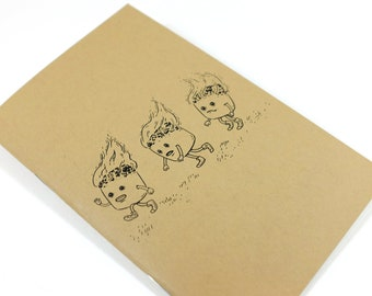 """Pocket Notebook - Marshmallows - 32 Blank Pages - 5.5"""" x 3.5"""""""