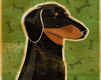 Dachshund (Black and Tan) Print 8 x 10
