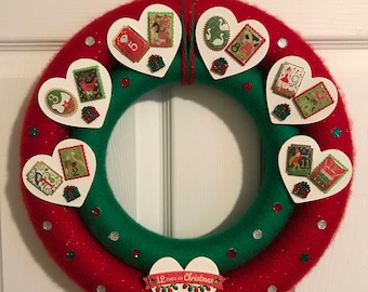 Twelve Days of Christmas Wreath
