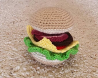 Crochet hamburger