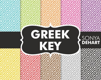 80% OFF SALE Greek Key, Greek Key Patterns, Greek Key Papers, Greek Digital Papers, Greek Patterns, Greek Papers, Key Patterns