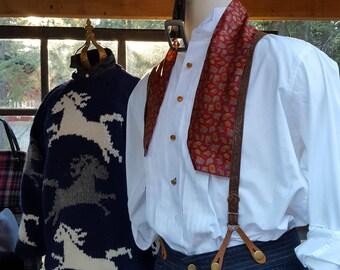 vintage, men's  Italian tuxedo shirt,  XL, free shirt studs