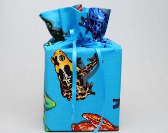 Blue Tissue Box Cover Frogs Kleenex Box Cover Toads Kleenex Box Holder Frog Tissue Box Holder Bathroom Accessories Bathroom Decoration