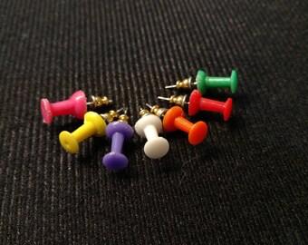 Push Pin Stud Earrings
