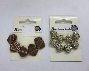 Blue Moon - perles 10 cuivre diamant perles - Plus - 10 argent coeur fleuri