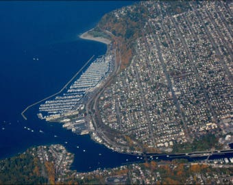 Poster, Many Sizes Available; Aerial View Of Ballard, Seattle