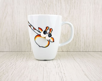 Giraffe Mug, Giraffe Tea Cup, Animal Lover Gift, Safari Mug, Giraffe Kids Mug, Hand Painted Coffee Cup, 10oz Giraffe Mug, Cute Coffee Mug,