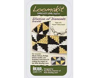 Bead Loom Kit Loomatiks Illusion of Diamonds with All Materials Included plus Instructions with Beads