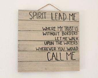 Spirit Lead Me Home Decor