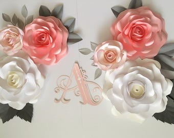 paper flower wall perfecr for nursery, wedding or home decor