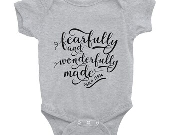 Fearfully and Wonderfully Made Infant Bodysuit Onesie