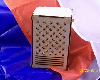 Stars und Stripes Tee-Licht-Boxen - kommt mit Batterie betrieben Tee Licht