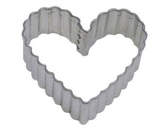 "4"" Fluted Heart Cookie Cutter Valentine's Day Wedding"