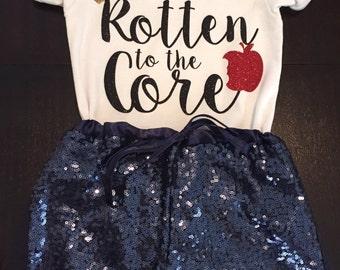 Disney descendants inspired, rotten to the core shirt
