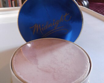 Vintage 1950s 1960s Face Powder Deadstock MIDNIGHT By Tussy