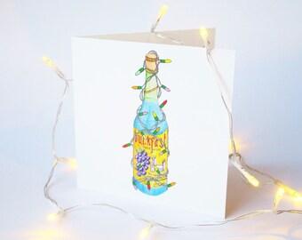Merry Buckin Christmas - Buckfast Illustration Christmas Card