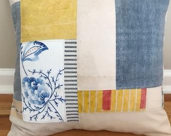 "17"" Patchwork Grainsack Pillow Cover"