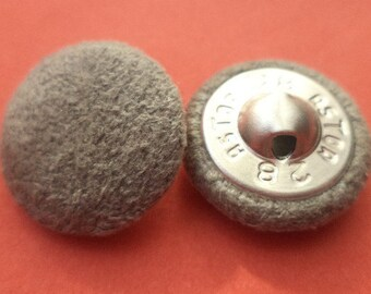 Fabric button buttons 11 fabric buttons grey 18 mm (6038)
