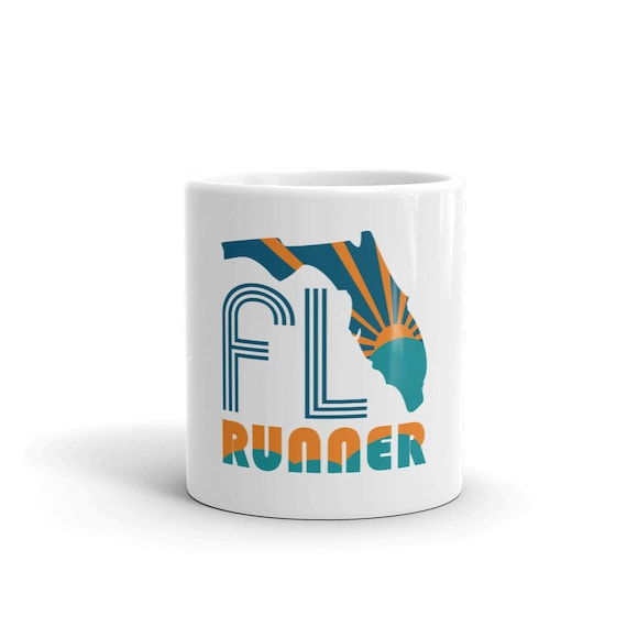 Florida Runner Mug - Run Florida - 11 oz or 15 oz - Coffee Mug's for Runners
