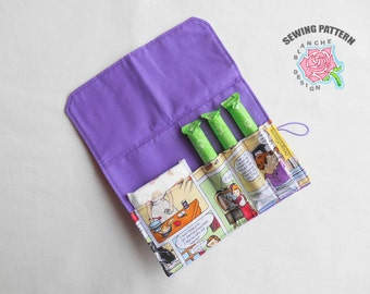 Pad & Tampon Holder PDF Sewing Pattern, Privacy Wallet PDF Pattern, Feminine Product Case Tutorial, Sanitary Pad Pouch PDF Sewing Pattern