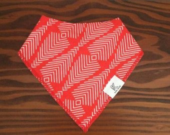 Fire Red bandana bib