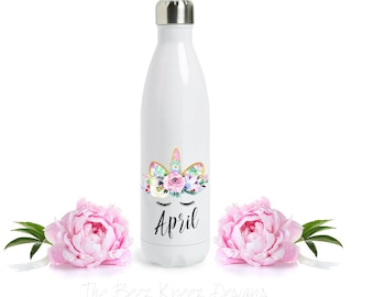 S'well bottle, unicorn, personalized bottle, water bottle, bridesmaid gift, maid of honor gift, stainless steel, customized, wedding party