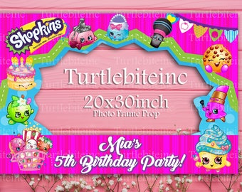 Shopkins Birthday Birthday Party  Photo Frame Photo Booth Prop