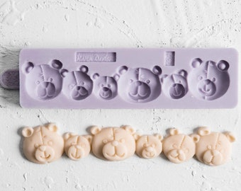 TEDDY HEAD BORDER Mold/Karen Davies Molds/Teddy Themed Cakes/3D Teddy Molds/Teddy Bear Cakes/Fondant Border Mold/Kids Birthdays Cakes