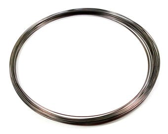 20 rounds of 110 mm gunmetal necklace memory wire