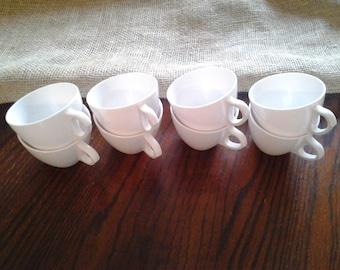 White Royalon Melmac Cups Mugs