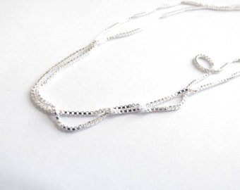 20in Chain Sterling Silver box chain , thick  .925