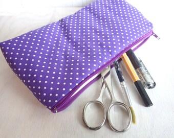 Dottie - violet - Pencil Case Pouch Case