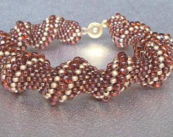 topaz bracelet seed bead bracelet brown beaded bracelet boho bracelet beadwork bracelet stackable bracelet