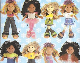 """Simplicity 5745 DIZZIE DOLL Clothes Sewing Pattern Design Your Own 14"""" Doll Clothes UNCUT"""