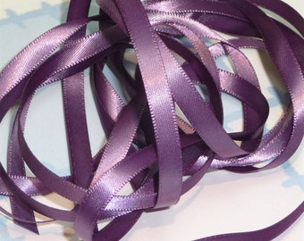 AMETHYST DouBLe FaCeD SaTiN RiBBoN, Polyester 1/4 inch wide, 5 Yards