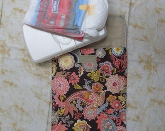 baby shower game gift, baby wipes bag, baby diaper clutch, baby accessories, diaper bag organizer,child care, kids, salmon and gray paisley