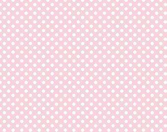 CLOSEOUT SALE Baby Pink Small Dot by Riley Blake 1 Yard