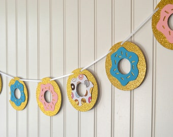 Donut Garland - Donut Party - Donut Banner - Donut Grow Up Party Decorations - Donut Party Banner - Donut First Birthday - Donut Decorations