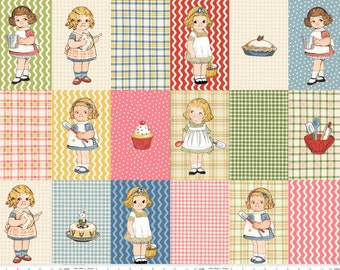 Penny Rose - Paper Dolls Bakery by Sibling Arts Studio Paper Doll Blocks in Multi by the Panel