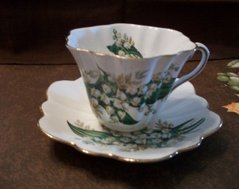 Antique, Queens Royal Bone China, cup and saucer set, from Nanas Vintage Shop