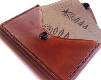 Leather Business Card Holder - Slim Wallet - Card Holder Case - Card Case - Leather Card Case - Sturdy Leather Card Case