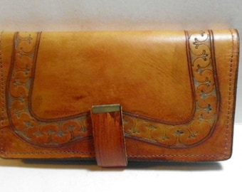 leather checkbook cover / standard check book cover