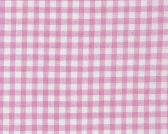 Carly LIGHT PINK Mini Checkered Gingham Poly Cotton Fabric by the Yard - 10114