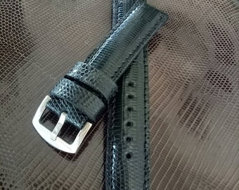Handcrafted Lizard Skin Leather Watch Strap